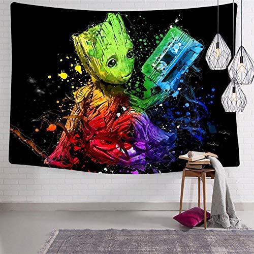 436 Tapiz con raíz G de Guard-ians of the Galaxy Dancing para colgar en la pared, decoración de pared única para sala de estar, dormitorio, decoración del hogar, 137 x 127 cm