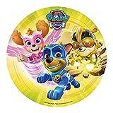 Dekora - decoracion tartas de cumpleaños infantiles en disco de oblea de paw patrol - 20 cm