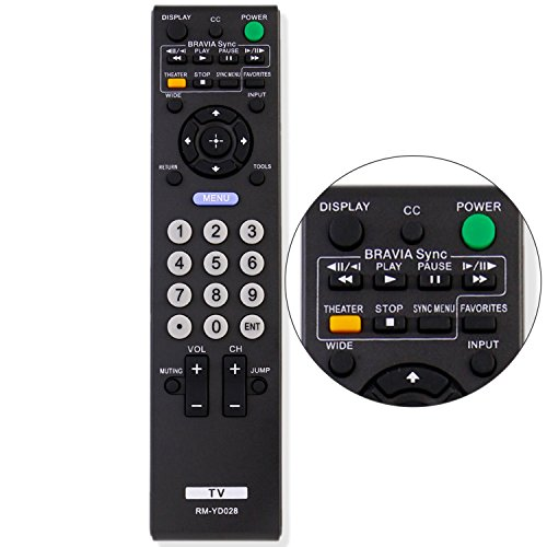 New RM-YD028 RMYD028 Replacement Remote Control Fit for Sony Bravia TV KDL19L5000 KDL-32XBR9 KDL40SL150 KDL-46S504 KDL46S51009 KDL52S51009 KDL-52S51009 KLV52W510 KLV-52W510