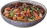 TREEECFCST Servizio di Piatti Pasta Piatto Pasta Bowl ceramica Soup Bowl Large Soup Bowl Albergo articoli for la tavola delle famiglie Noodle Bowl Gamberi piatto pesce bollito ciotola grande piatto Po