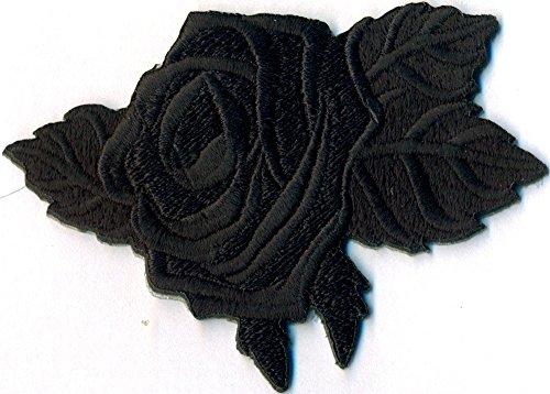 BLACK ROSE Schwarze Rose Gothic Black Metal Jacken Aufbügler Aufnäher Patch Abzeichen