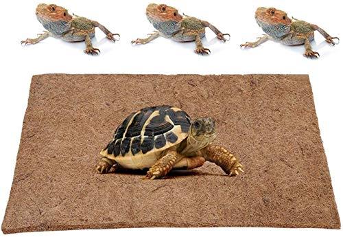 GZGZADMC - Alfombra para reptiles de fibra de coco natural, alfombra para reptiles de fibra de coco ecológica, accesorios para depósito de dragón Barba, alfombra de cama para terrario