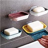 yangyu 4 Piezas Jabonera, Caja de Plástico para Jabonera, Jabonera Caja de Plástico, para Guardar Baños, Bañeras y Cocinas, Esponjas, Maquinillas de Afeitar y Teléfonos