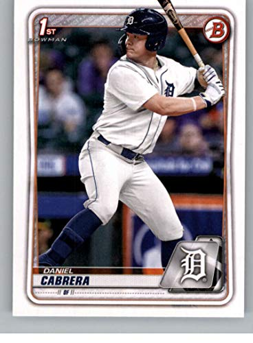 2020 Bowman Draft #BD-62 Daniel Cabrera Detroit Tigers First Bowman RC Rookie Official MLB Baseball Trading Card From The Topps Company in Raw (NM Near Mint or Better) Condition