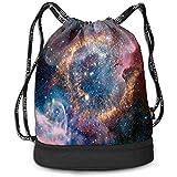 Valender Nebulosa planetaria Constelación Mochila con cordón de viga de Acuario Unisex