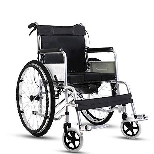 HHXX Potable Folding Travelling Rolstoel, Ultra Lichtgewicht Transport Rolstoel voor Ouderen en Kinderen