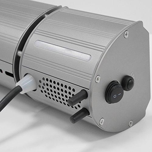 VASNER Appino BEATZZ Grau Grey Infrarotstrahler Terrassenstrahler dimmbar 2000 Watt mit Bluetooth, LED Backlight Licht, Musik-Lautsprecher Außenbereich mit Abdeckhaube AirCape M - 4
