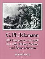 TELEMANN - Trio Sonata en Re menor (TWV:42/d 5) para 2 Violines (2 Flautas) (2 Oboes) y Piano (Michel)