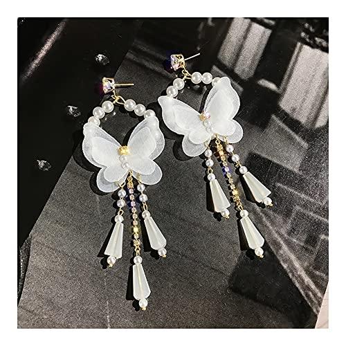 RKL Orecchini Pendenti Bohémien per Donna, Orecchini Pendenti Lunghi con Farfalla in Pizzo Creativo, Orecchini alla Moda per Feste di Compleanno per Ragazze (Color : B)