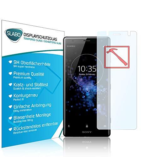 Slabo 3 x Lámina de Vidrio Premium para Sony Xperia XZ2 Compact Protectora Protector de Pantalla Templado Tempered Glass Claro dureza 9H
