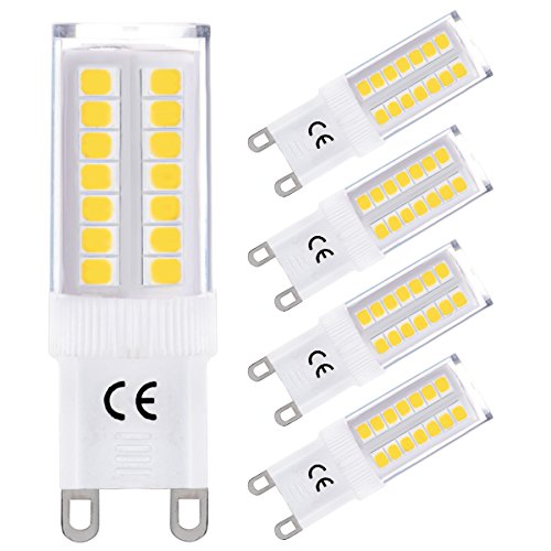 LOHAS 5W G9 Luce Naturale 4000K Lampadine LED,220-240V AC, Lnvece di 40W Lampada Alogena Confezione da 4