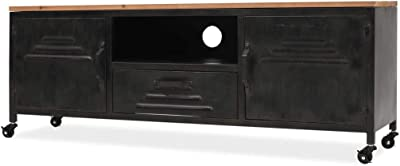 vidaXL TV Cabinet 120x30x43cm Black Home HiFi Stand Unit Entertainment Centre