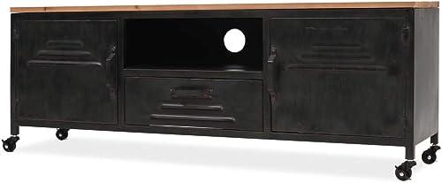 Mobile porta tv 120x30x43 cm nero mobiletto supporto arredo armadietto vidaxl 245456