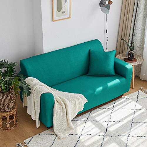 Fundas Sofas 3 y 2 Plazas Ajustables Verde Fundas Sofá,Universal Funda Cubre Sofas Ajustables, Antideslizante Protector Cubierta de Muebles(145-185cm)