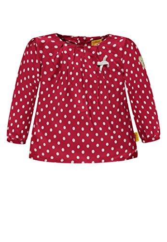 Steiff Steiff Baby-Mädchen 1/1 Arm Bluse, Rot (Allover Multicolored 0003), 80