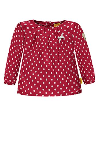 Steiff Steiff Baby-Mädchen 1/1 Arm Bluse, Rot (Allover|Multicolored 0003), 80