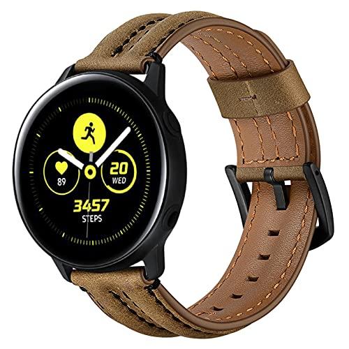 Correas de Cuero Compatibles con Samsung Galaxy Watch Active1 / 2 / Correa de Repuesto de Correa de Cuero Genuino Vintage, Accesorios de Pulsera, Ppara Hombre y Mujer de 6.1-8.7 de Muñeca