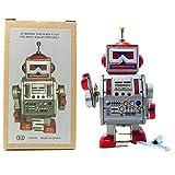 PYXEL STUDIO Tin Toy Robot - Radar DAVE robot - de viento de hasta juguetes lata coleccionable