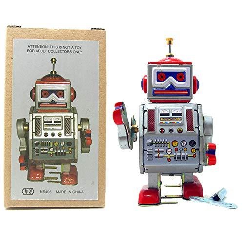 PYXEL STUDIO Tin Toy Robot - Radar DAVE Robot - vent jusqu'à jouet boîte de collection