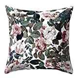 Dream Room Kissenbezug Blumen 45 x 45 cm Natürliches Muster Kissen Dekorative Kissenbezüge...