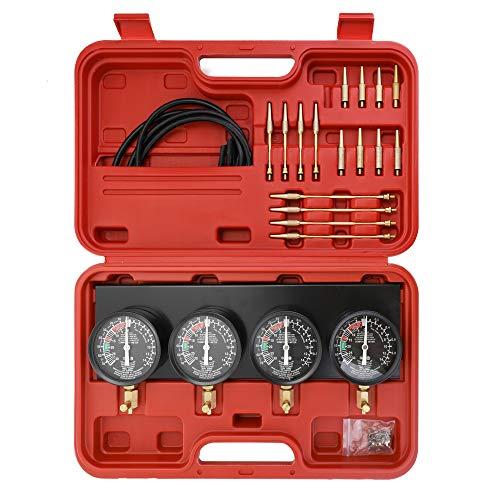 KKmoon - Juego de 4 calibradores de sincronización para carburador y carburador para motocicleta, portátil, con funda de almacenamiento universal