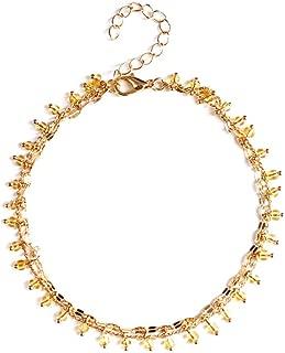 Jewelry Beaded Pendant_Simple Women's Handmade Beaded Pendant Anklet Two Groups K287