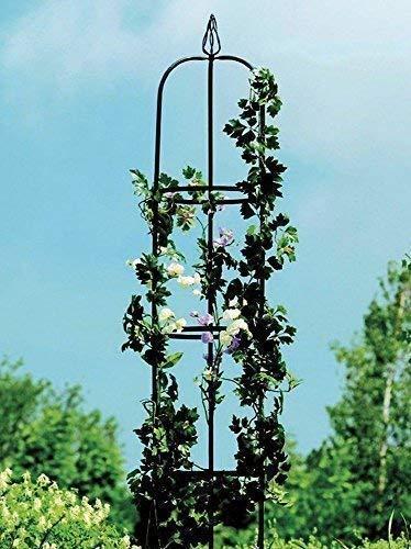 linoows Rosen Obelisk, Rosenturm, Rankhilfe, Rosensäule, Rankgitter, Säule 190 cm