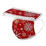 Blingko Weihnachten Mundschutz für Erwachsene 10 Stück Einweg Mehrfarbig Mund und Nasenschutz Motiv Staubschutz Atmungsaktive Gesichtsschutz Bandana Loop Halstuch (O)