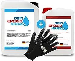 Epoxy-harts 10 kg glasfibersats | professionell kvalitet klar och luktfri laminering och harts med härdare och handskar,...