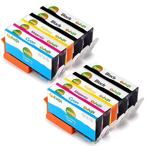 Gohepi 364XL Alta Capacidad Cartuchos de tinta Reemplazo para HP 364 Compatible con HP Deskjet 3070A,HP OfficeJet 4620,HP Photosmart 5510 5520 7510 7520 5514 5515 5522 5524 4622 6510 B110A B8550