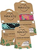 Parakito - PROTECCION NATURAL ANTIMOSQUITO - KIT 2 x Para'kito PULSERA repelente de mosquitos (Azul y Roja) + 1 x Recarga Para'kito Para Pulsera