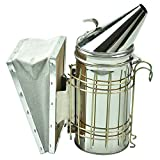 WskLinft Bee Smoker, Stainless Steel Bee Hive Smoker with Heat Shield Beekeeper Beekeeping Equipment
