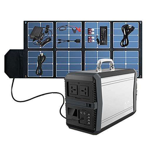 HJGHY Portable Power Station 1000W, 273000mAh Generatori Solari Portatili per Uso Domestico, Batteria di Backup CPAP per Emergenza da Viaggio in Campeggio All aperto,Argento