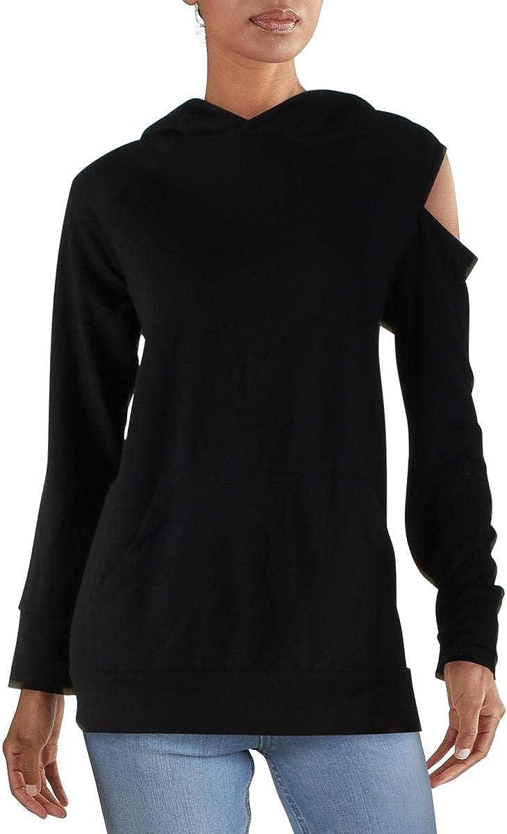 RACHEL Rachel Ranking TOP5 Roy Womens Cold M Black New York Mall Hoodie Sweatshirt Shoulder