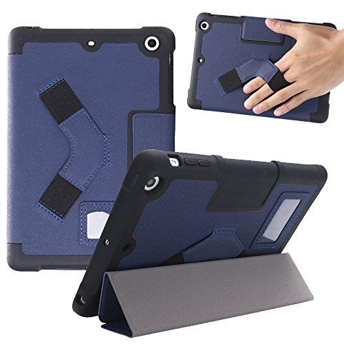 NUTKASE Cover Protectora Azul Oscuro para iPad Mini 4 Diseñado en Italia/Inteligente/Ajustable/Funda para Apple