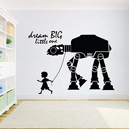 Etiqueta engomada de la pared del vinilo del robot Etiqueta de la pared Calcomanía de pared motivacional Letras
