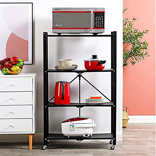 SDKFJ Carrito baño Carro de microondas de Almacenamiento extraíble de Varias Capas para Piso de Estante de Cocina Plegable Carrito Cocina