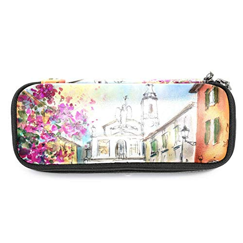 Bergamo Lower Town Painting Pen Case Pencil Bag for School Supplies Students Office Clerks