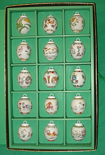 Hutschenreuther Mini-Eier Set 1985-1999 * Rarität, Osterei, Ei, Ostern, Frühling, Anhänger, Osterschmuck