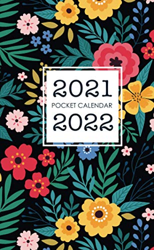 2021-2022 Pocket Calendar: Floral Cover | Two Year Calendar Small Size | Monthly 2 Year Appointment Planner 2021-2022 | 24 Months Agenda Schedule Organizer with Holiday | Jan 2021 - Dec 2022