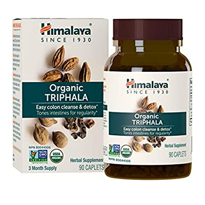 Himalaya Organic Triphala, Colon Cleanse & Digestive Supplement for Occasional Constipation, 688 mg, 90 Caplets, 3 Month Supply