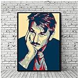 sjkkad Sean Penn Poster Leinwand Malerei Drucken Wandkunst