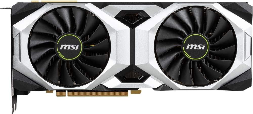 MSI GeForce RTX 2080 Ti VENTUS 11G OC - Tarjeta gráfica Enthusiast (PCI-E 3.0, Nvidia G-Sync, 11 GB GDDR6, 352-bit, 7000 Mhz Memory Clock Speed, MSI Afterburner)