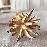 LKAIBIN 造花 ナチュラル日菊ロータス支店スイレンはフラワーブーケDIYウェディングパーティーの装飾干し (Color : 4)
