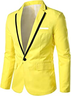 Christor Fashion Suit Tops for Men, Men's Business Blazer Stylish Casual Jackets Coats Lightweight Breathable Solid Color ...