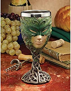 Design Toscano Forest Spirits Greenman Goblet Collection: Lady of The Leaf