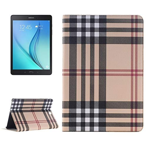 simple and practical Plaid Pattern Leather Case with Holder & Card slots & Wallet for Galaxy Tab A 9.7 4G LTE / T555,All buttons match (Color : Color1)