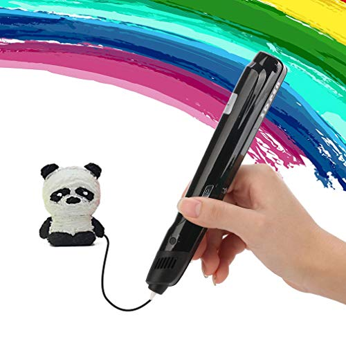ZMW Diy 3D Printing Printer Art Marker Painting Paint Graffiti Pen Refill Toy Doodler Pla 3D Drawing Pens For Kids(Black UK)