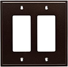 Placa de cobertura W35317-CO Simple Step Double GFCI de bronze de cacau