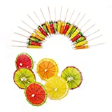 Qxzvzem 20 Pieces Cocktail Picks Drink Paper Tiny Umbrellas Skewers Christmas Fancy Toothpicks for Appetizers Fruit Sticks Garnish Luau Cake Tropical Margarita Party Decorations Bar Accessories